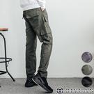 工裝長褲 【OBIYUAN 】多口袋 高質感 寬鬆 工作褲 共3色【T88900】