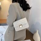斜背包/側背包 質感高級小眾包包女2021網紅夏新款潮時尚鏈條百搭ins單肩斜挎包