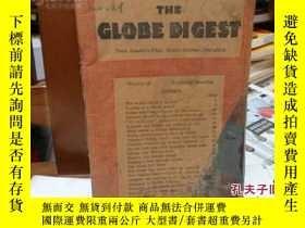 二手書博民逛書店民國英文舊書罕見THE GLOBE DIGEET75403 出版