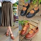 娃娃鞋 夏季新款軟妹小皮鞋文藝復古日系森女淺口瑪麗珍單鞋女 - 古梵希