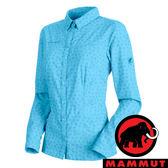 【MAMMUT 長毛象】女 Trovat Advanced 長袖 彈性襯衫-50037『自在藍』1030-02560 襯衫 印花 長袖
