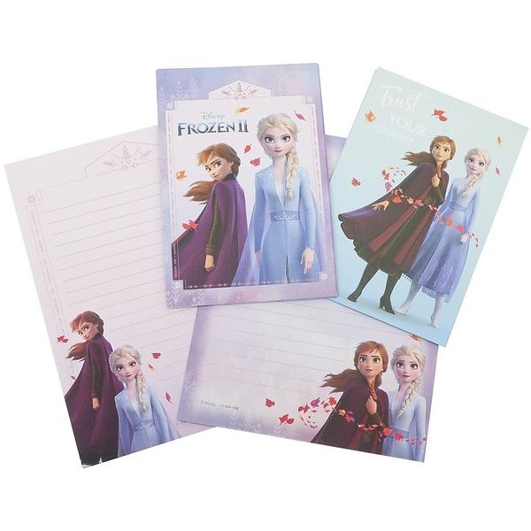 迪士尼Sun-star文具系列!安娜和雪之女王 冰雪奇緣II 信紙信封組 日本製 限量發售