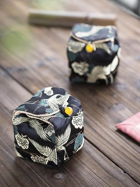 茶具收納包 棉麻便攜收納包
