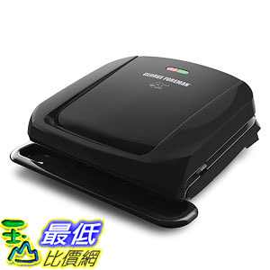 [8美國直購] George Foreman 4-Serving Removable Plate Grill and Panini Press, Black, GRP1060B