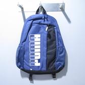 PUMA PLUS 後背包 大容量 公司貨 07574910 藍【iSport愛運動】