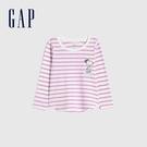 Gap女幼童 史努比聯名長袖T恤 883862-粉色條紋