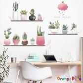 壁貼【橘果設計】多肉植物花盆 DIY組合壁貼 牆貼 壁紙 室內設計 裝潢 無痕壁貼 佈置