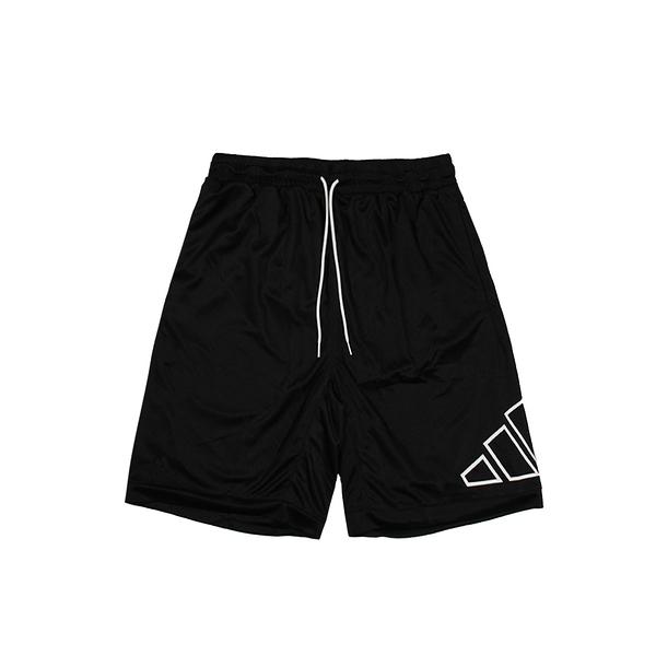 ADIDAS 籃球短褲 BIG LOGO SHORT 黑-GT3018