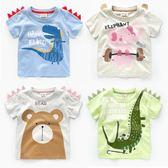 新年鉅惠男童短袖T恤右歐2018新款韓版夏裝小童童裝兒童寶寶女童半袖上衣 東京衣櫃