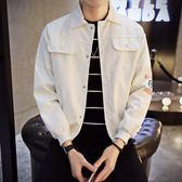 【黑色星期五】男士港風chic外套男秋裝新款正韓潮流牛仔夾克男裝棒球服上衣