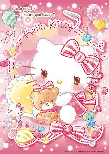 【拼圖總動員 PUZZLE STORY】Kitty & 泰迪熊 日本進口拼圖/Beverly/Hello Kitty/108P