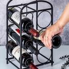 紅酒架 紅酒架鐵藝酒架子疊加葡萄酒架擺件歐式酒架時尚創意酒柜擺件家用 印象家品
