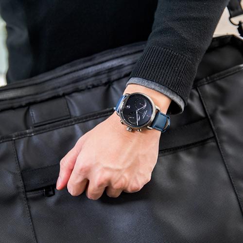 Nordgreen 42mm 北歐藍純素錶帶 Pioneer先鋒 北歐設計師手錶 藍寶石鏡面 計時錶 深空灰殼 極夜黑錶盤