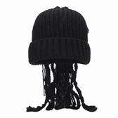 毛線帽子秋冬天臟辮帽