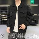 工裝外套 男士外套春秋季韓版潮流工裝上衣2020新款休閒百搭棒球服夾克秋裝 伊蒂斯