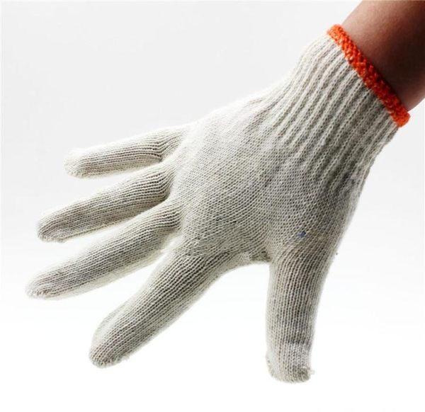 勞保手套加厚手套汽修耐磨白尼龍細棉紗