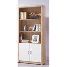 【森可家居】安迪雙色2.6尺下門開放書櫃 8SB232-4 收納書櫥 木紋質感 無印北歐風 MIT台灣製造