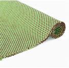 日式萬用編織純棉防滑地墊(45cmX70cm)/款式淺綠+咖啡條紋