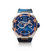 【NSQUARE】SNAKE QUEEN系列施華晶鑽時尚機械橡膠腕錶-午夜藍/L0471-N11.4/台灣總代理享兩年保固
