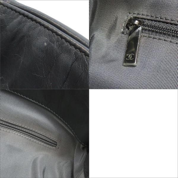 CHANEL 香奈兒 灰色牛皮格紋銀鍊肩背包 2.55【二手名牌 BRAND OFF】