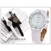 柒彩年代【NE355】時尚經典黑白色情侶對錶手錶類品牌中性款情侶搭配 單支價格