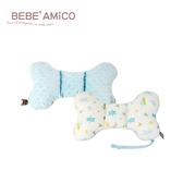 bebe Amico-動物日記-貝貝豆雙面安撫蝴蝶枕(附奶嘴鍊)-藍