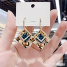 耳環 高級感幾何菱形水晶耳環年新款潮韓國氣質網紅耳飾銀針耳釘女 星河光年