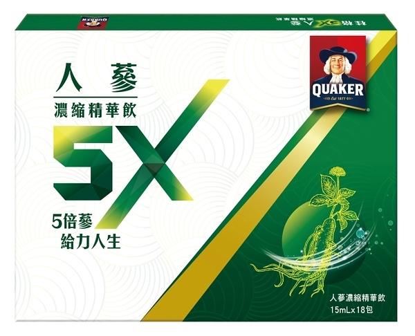 桂格 5X人蔘濃縮精華飲盒裝15ml*18包
