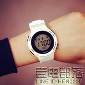 多功能閨蜜款手錶女韓國潮流學生個性大錶盤小清新韓版電子運動錶