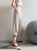 健身褲健身女孩寬鬆束腳潮運動褲薄款速干高腰休閒跑步瑜伽長褲秋冬春季特賣