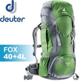 【Deuter 德國 FOX 拔熱背包40+4L《綠/灰》】36083/背包/後背包/登山/健行/自助旅遊★滿額送