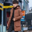 中長款冬季男士外套 韓版外套羽絨外套 棉服男士棉衣 夾克外套加絨羽絨服 連帽加厚男生外套