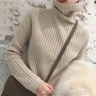 高領毛衣黑色高領毛衣女寬鬆新款女士打底衫長袖秋冬寬鬆毛衫加厚洋 快速出貨