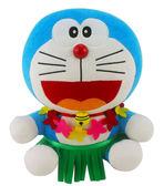 【卡漫城】 哆啦A夢 玩偶 30cm 夏威夷 草裙 ㊣版 Doraemon 絨毛 娃娃 小叮噹 布偶 玩具 擺飾 裝飾品