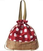Olivia 日本風格圖案購物袋 可保冷保溫 紅色