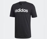 Adidas Essentials Linear Logo Tee 男款黑色短T-NO.DU0404