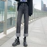 直筒牛仔褲 顯瘦3992#女裝朝風氣質春秋彈力煙管小直筒牛仔褲顯瘦高腰牛仔褲1F157.1號公館