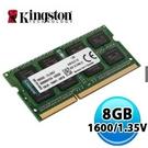 金士頓 Kingston 8GB DDR3 1600 NB 筆記型電腦 記憶體(低電壓1.35V)KVR16LS11/ 8