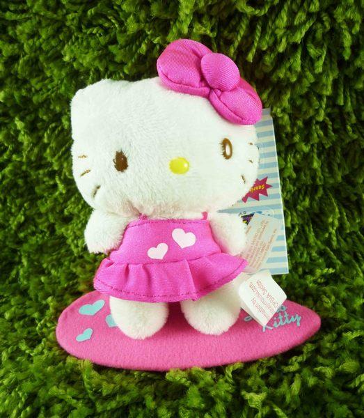 【震撼精品百貨】Hello Kitty 凱蒂貓~絨毛娃娃-粉衝浪