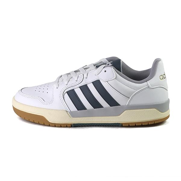 Adidas Entrap 白色 皮質 運動籃球鞋 男款 NO.B1788【新竹皇家 FW3463】