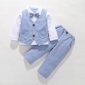 1周歲寶寶生日禮服男童小西裝2兒童英倫馬甲三件套3洋氣花童套裝4 幸福第一站