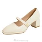 高跟鞋粗跟瑪麗珍鞋女復古2021年新款秋冬季赫本風高跟鞋設計感小眾單鞋 阿卡娜