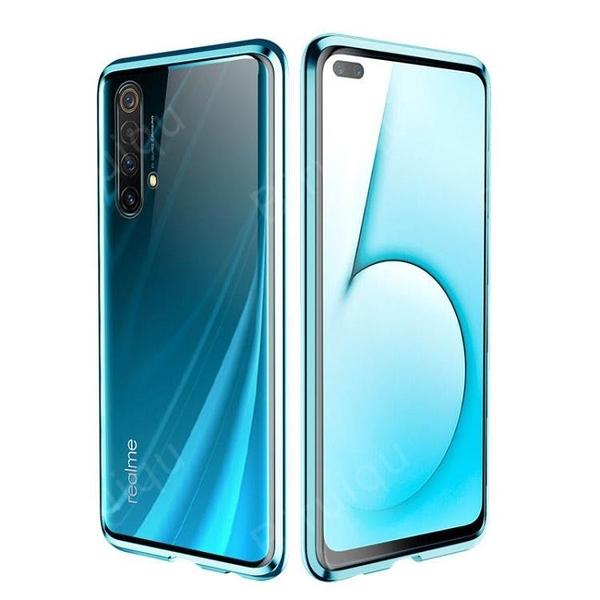 【雙面玻璃】Realme X3 X50 RealmeX3 RelameX50手機殼 萬磁王三代 鋼化玻璃 金屬框架 磁性