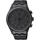 CITIZEN 星辰 Chronograph 光動能計時手錶-黑/42mm CA0625-55E