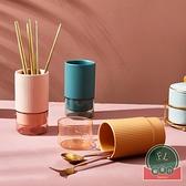 餐具收納盒筷子筒簍廚房家用瀝水架置物架陶瓷筷子籠【福喜行】