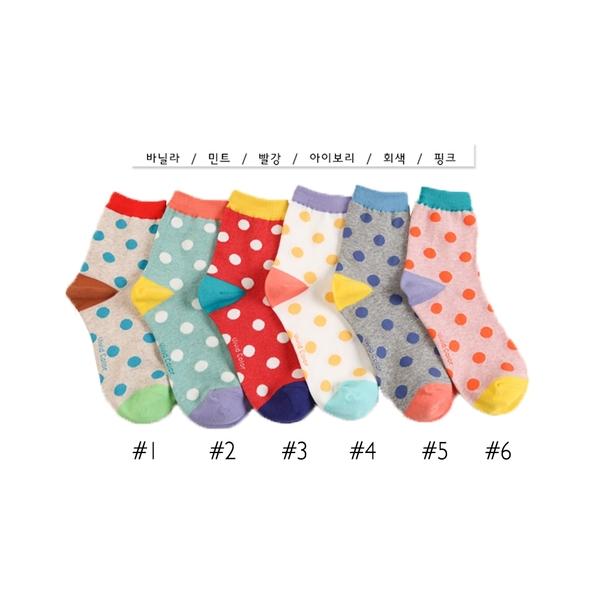 韓國水玉點造型短襪-多款任選 (SOCK-058-W)