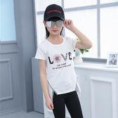 兒童上衣 兒童裝女童短袖T恤7中大童韓版上衣夏季12歲小女孩純棉打底衫【韓國時尚週】