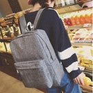 [超豐國際]簡約帆布雙肩包男時尚潮流休閑旅行背包電腦包中學生1入