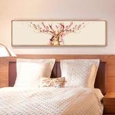 5D印花清晰十字繡線繡新款滿繡麋鹿歐式簡約客廳書房臥室大幅風景   初見居家