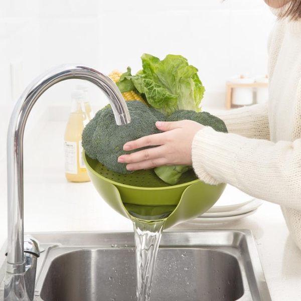 [超豐國際]雙層圓形瀝水籃家用塑料洗菜籃 廚房洗菜盆洗菜籃子水果